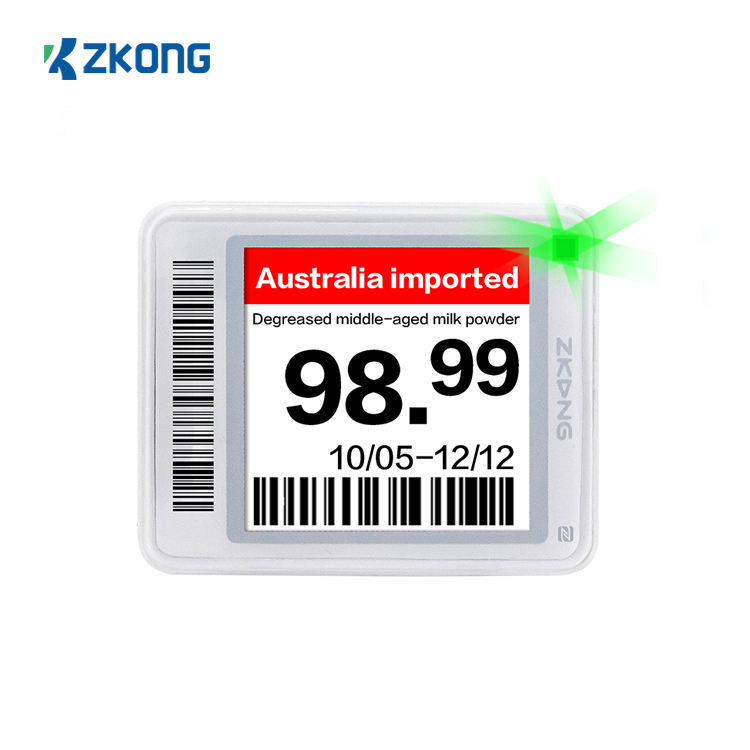 Zkong hot products ble 5.0 electronic shelf label esl system price tag digital display solutions