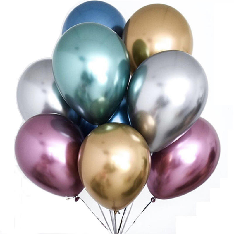 12inch New Glossy Metal Pearl Latex Balloons Thick Chrome Metallic Colors Inflatable Air Balls Globos Birthday Party Decor