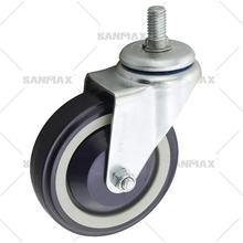 High quality 4 inch shopping cart caster TPU caster swivel wheel 110 load capacity