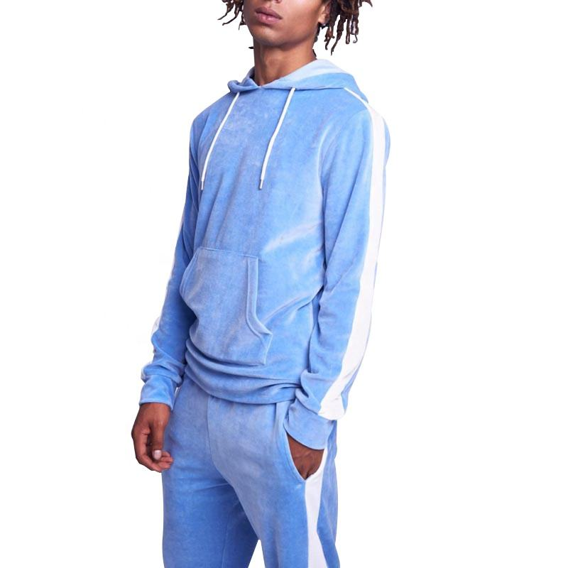 Fashion wholesale custom hight quality blank velour tracksuit men