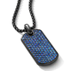 Crystal Diamond Rhinestone Jewelry Square Rectangle Dogtag Pendant Necklace For Men