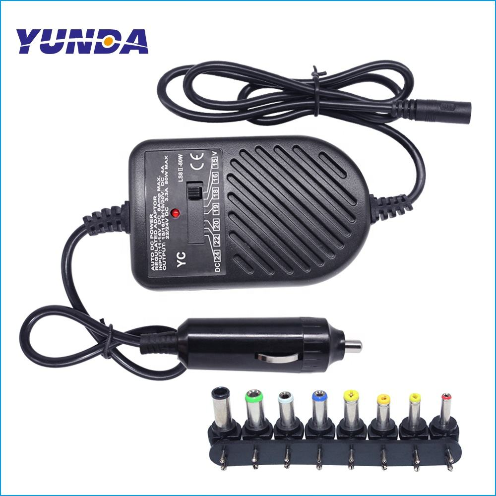 Universal 80W DC Car Charger Power Adapter FOR Dell Hp Toshiba Sony und Acer Laptop Notebook Computer