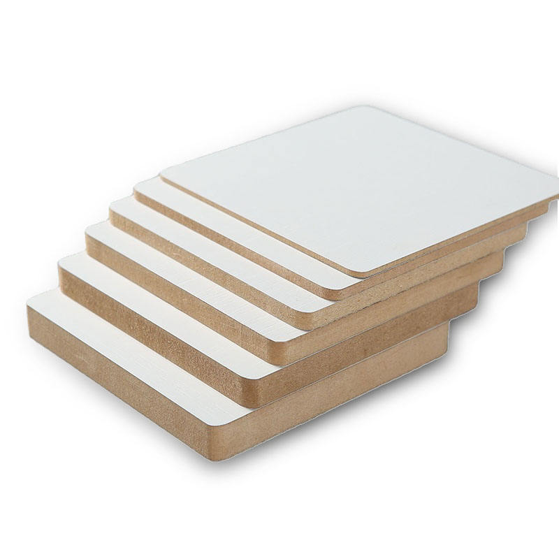 MDO double stickers Hmr Fire Resistant Shine White Pvc Melamine Boards Laminated Wood Mdf Board Waterproof Manufacturers 9X6