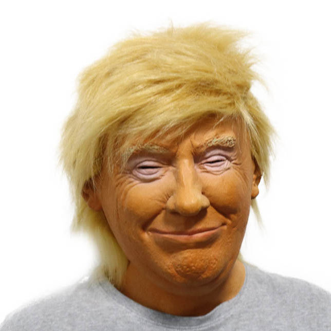 2020 Human Mask Realistic, Celebrity Halloween Costume President Donald Trump Latex Mask Realistic Mask/