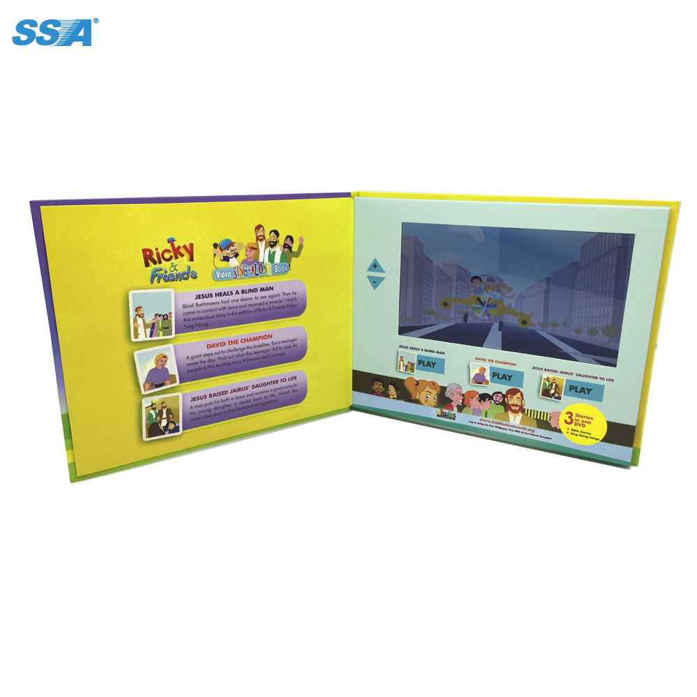 SSA Video In Brochure Advertising Video Brochure Tft Screen Diy Customized Video Brochure Business Card
