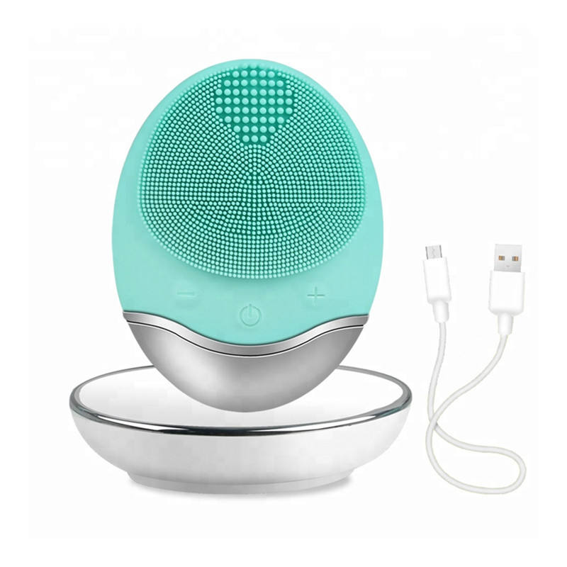 Multifunctional beauty equipment silicone sonic cleansing facial brush cleaner