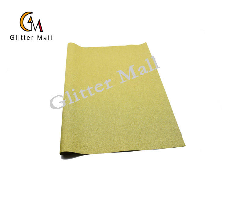 Eco-Friendly shiny yellow glitter film wrapping paper for gift decoration