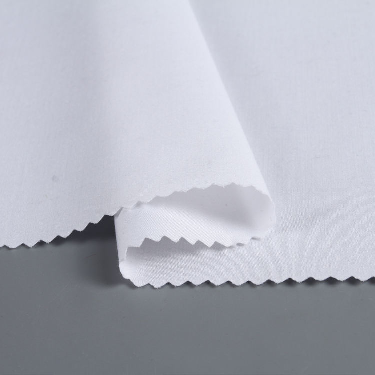 Wholesale eco friendly white special plain style Bamboo/T/SP dyed woven shirt bamboo polyester fabric