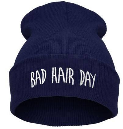 High Quality Colorful Unisex Bad Hair Day Beanie hat Custom Knit Beanie