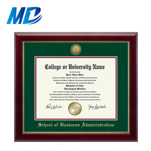 Premium Certificate Frame Photo Frame with Gold Medallion  8.5*11  Green Mat