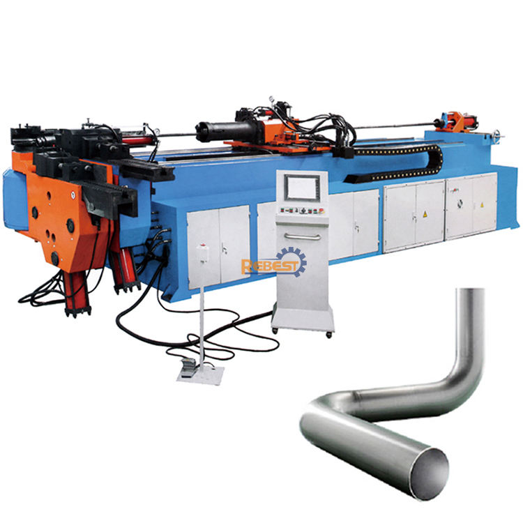 PLC Control Electric 4 Inch Mandrel Pipe Bender / CNC Tube Bending Machine