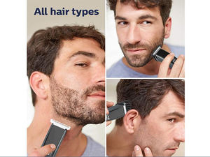 Neue customzied farben wireless haar clipper professionelle cordless LED display haar trimmer mit 4 kamm anhänge