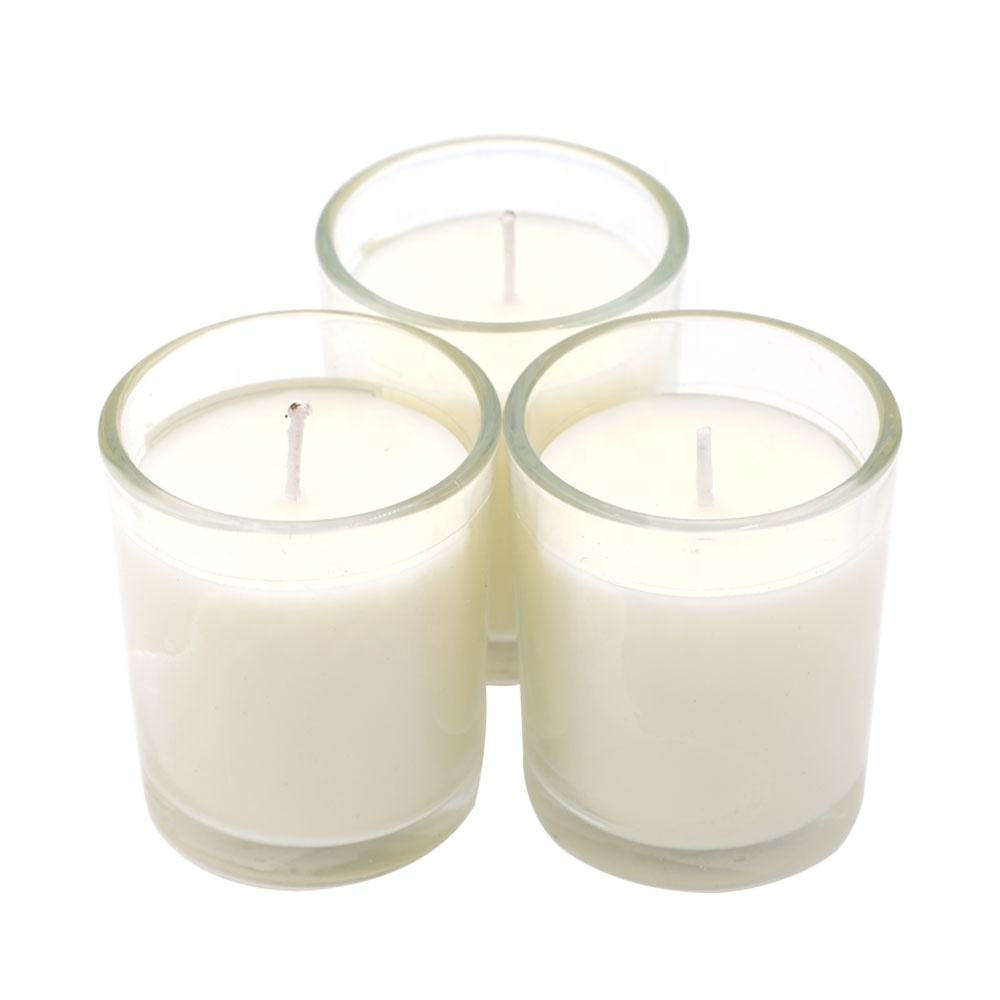 Strong Scented Strongly Fragrance Aromatherapy Long Lasting White Frosted Glass Jar Portable Natural Soy Wax Candles