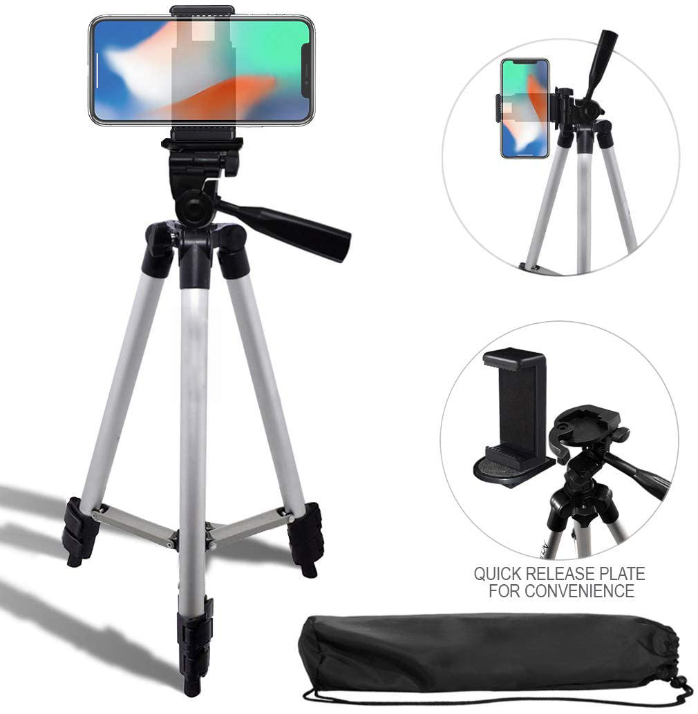 "New Product 3110 Lightweight 50"" Inch Aluminum Camera Tripod Stand Camera Travel Tripod Stand Quick Release + Universal Smartp"