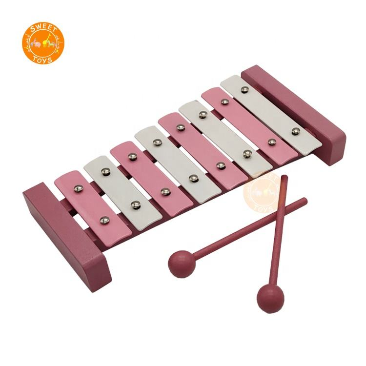 8 notes hand knock Toys Wooden Xylophone Kids Musical Instrument Colorful Piano Xylophone For sale