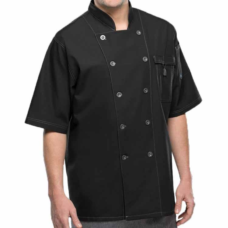 Custom Restaurant Chef Uniform Cooking Men Button Closed Hotel Chef Uniform