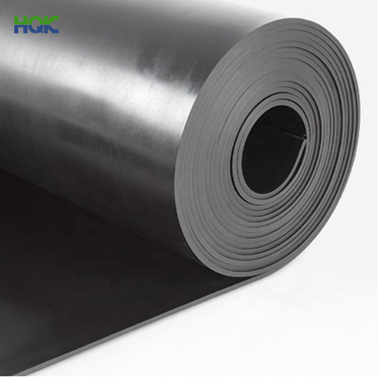 Black Rubber Sheet Wholesale Industrial Shock Absorbing Black Color Gym Floor Mats Fabric Diaphragm Neoprene Sbr Fkm Nbr Epdm Silicone Rubber Sheet