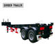 Hot sale dual axles 20 ft 12 ton 20 ton skeletal tipper container end tipping dump semi trailer chassis