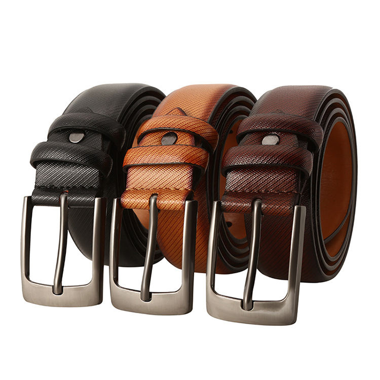 Zinc Alloy Buckle Leather Belt With High Quality PU Leather Belt Customer Belt Design