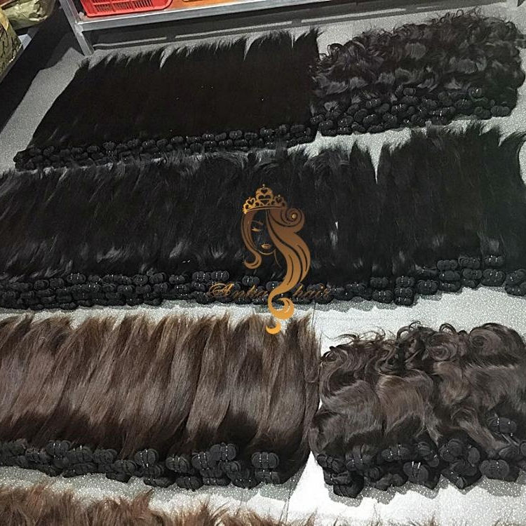 K Vietnamese Hair Manufacturer Unprocessed Brazilian Weft Bulk Virgin Hair Cuticle Aligned Raw Human Hair