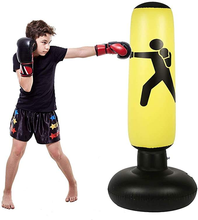 hot sale PVC free standing punching bag Inflatable Air Punching Bop Bag For Kids Adult