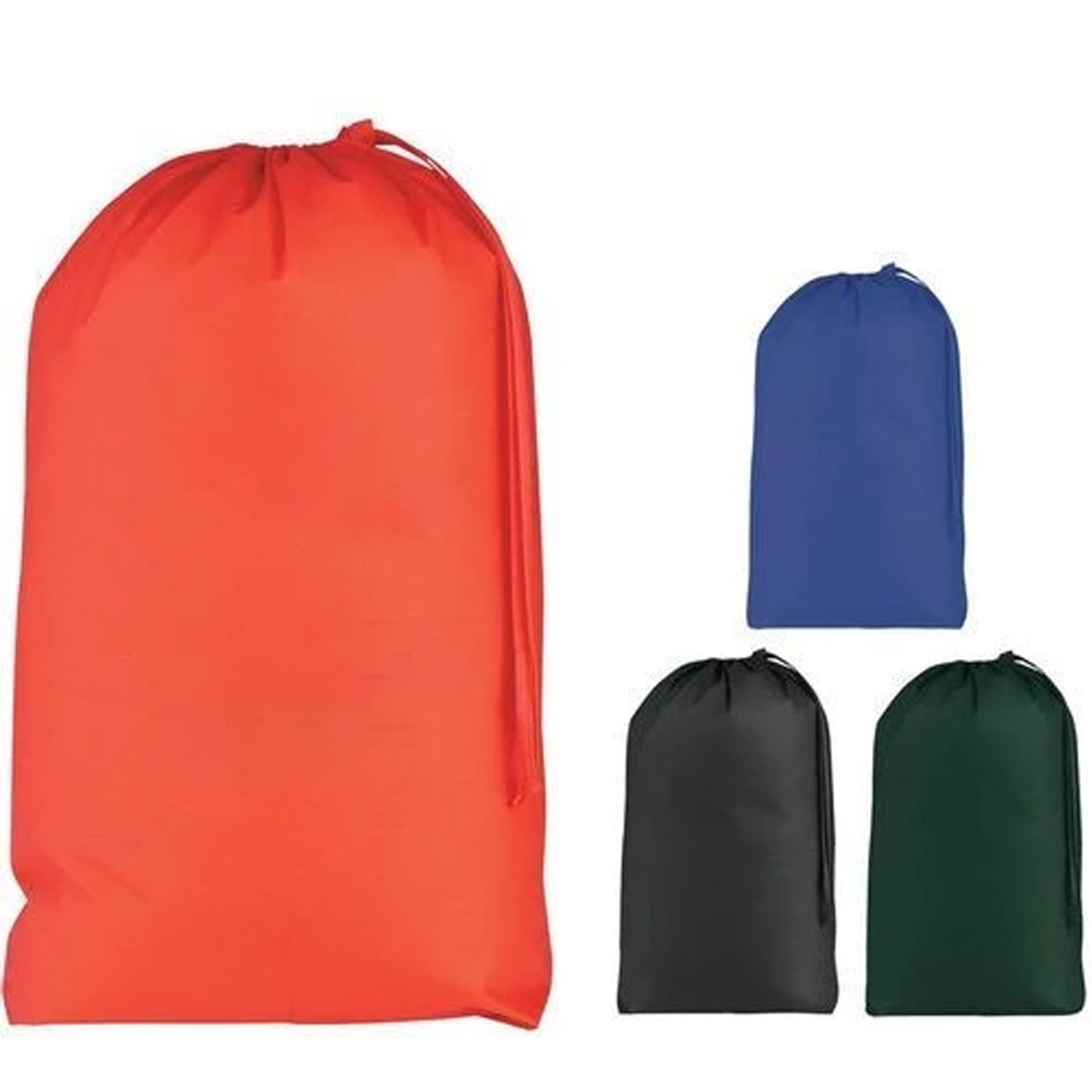 Oversize durable reusable nylon drawstring polyester laundry bag for hotel