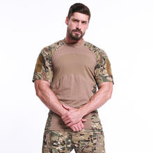 Outdoor short sleeve personal original camouflage military frog suit men shirt