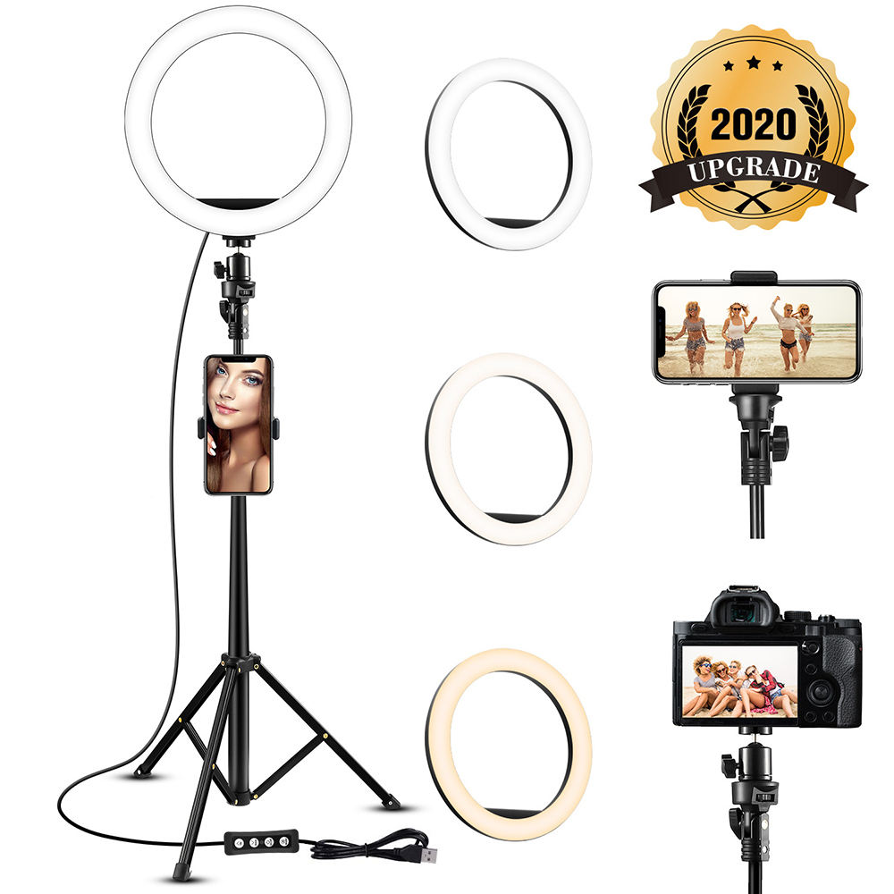 "Nieuwe 6 ""8"" 10 ""12"" 14 ""16"" 18 ""Inch <span class=keywords><strong>Statief</strong></span> Stand Makeup <span class=keywords><strong>video</strong></span> Vulling Cirkel Usb Led Selfie Ring Licht"