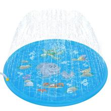 "68"" Sprinkle and Splash Play Mat, Inflatable Outdoor Sprinkler Pad Water Toys for Children and Kids"