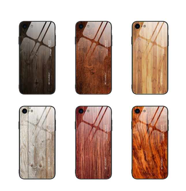 Wood grain tempered glass phone case For iPhone 11 Pro 7 8 6 6S plus Tempered Glass Case For iPhone X XS MAX 11 Pro MAX XR cases