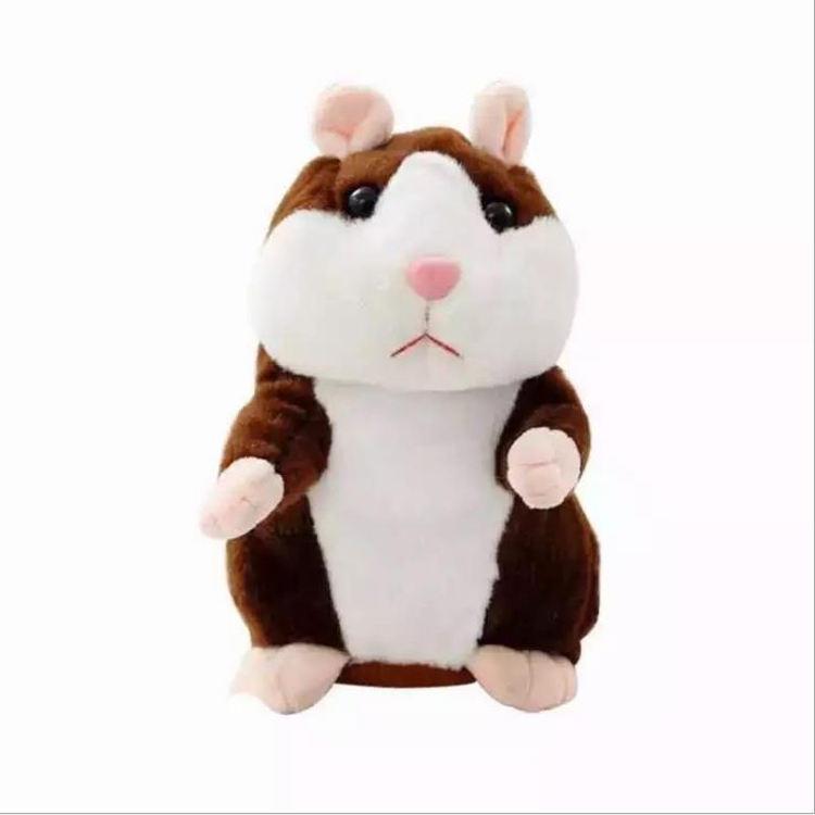 Funny Walking Talking Speaking Nodding Hamster Plush Toy Animal Kids Toy Hu