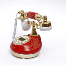 European style  rotary retro old fashioned rotary dial phone retro headset receiver antique telephoneantique landline