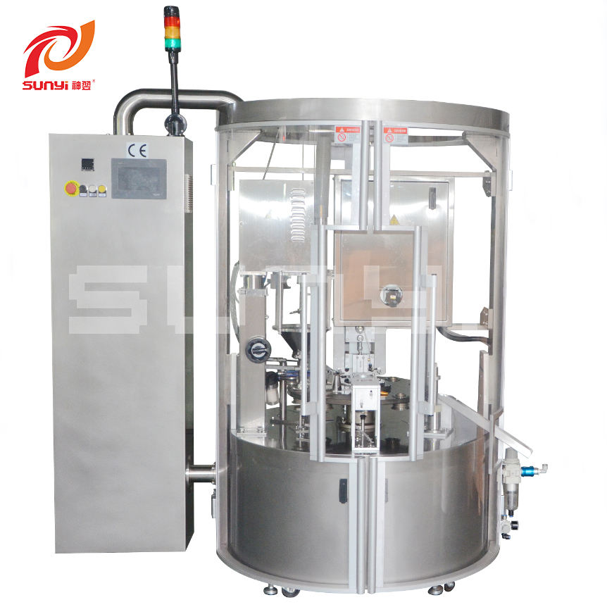 Factory Directly Sell New Type High Capacity Automatic Rotary K Cup Coffee Capsule Filling and Sealing Machine