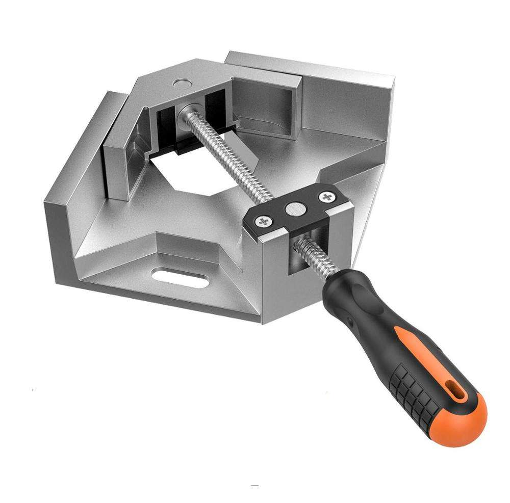 Multifunctional single handle 90 degree Right Angle Carbide Vice photo frame corner clip swing corner clamps