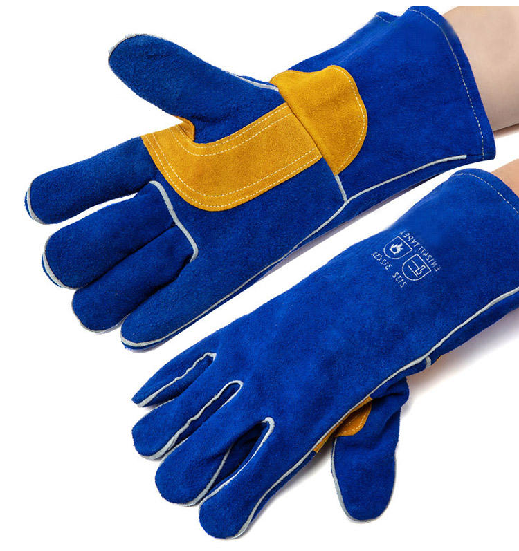 CE Standard Hot-sale Premium Protective Safety Electric Leather Heat Resistant Welding Gloves