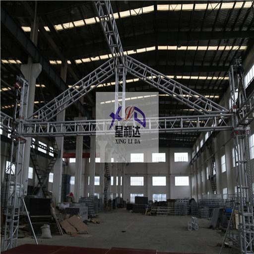 6082 Durable Aluminum Square Bolt Truss 400*400 Outdoor Concert Stage Trussing Silver