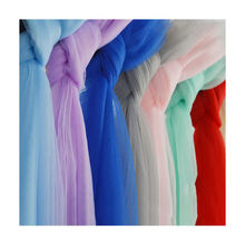 "118"" Wide Nylon Tulle Rolls Mesh Net Fabric for Bridal Veil"