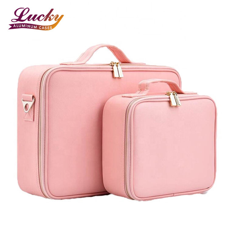 Professional Cosmetic Organizer PU Leather Beauty Travel Cosmetic Case Hanging Cosmetic Case Makeup Bag