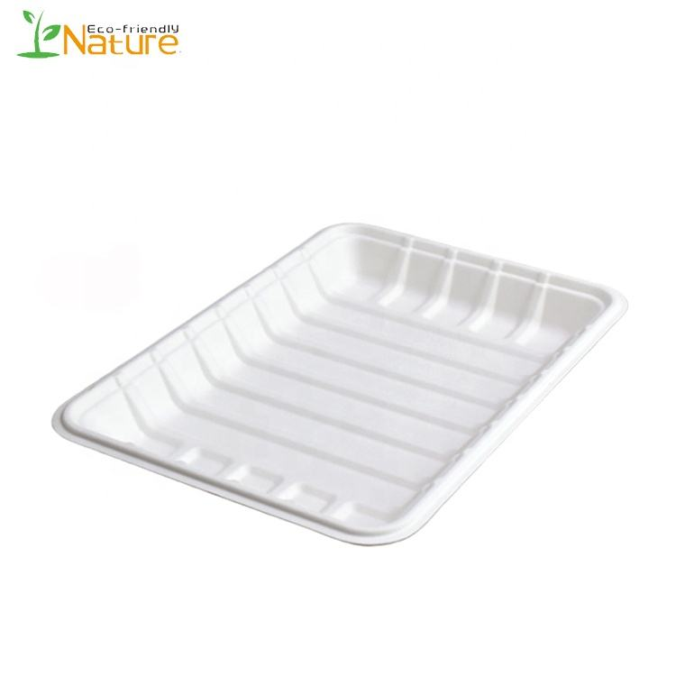 Disposable Biodegradable Food Package Sugar Cane Tray
