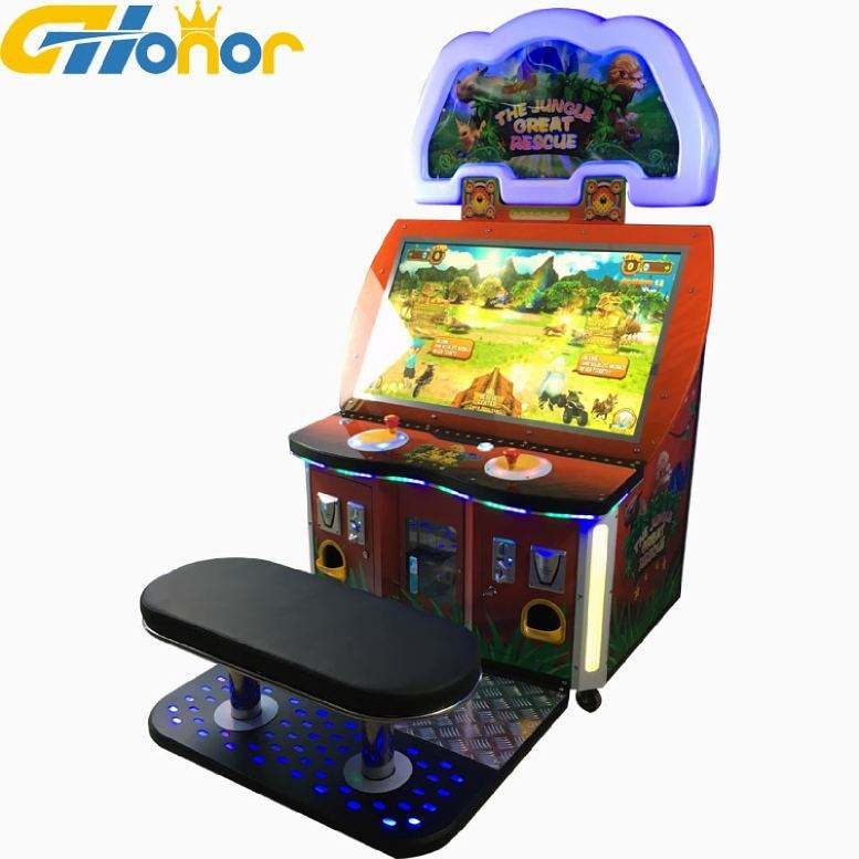 42 Inch Muntautomaat Video Games De Jungle Rescue, Loterij Ticket Arcade Game Machine