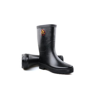 3539 black adult rubber safety rain boots gumboots
