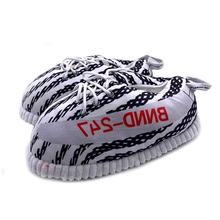 Many Models Average Size Wholesale Cozy Indoor Shoes Plush Yeezy AJ Sneaker Slippers