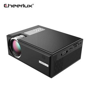 Cheerlux C8 Asli 720 P 1280*800 Dukungan 1080 P 1800LUM LED Mini Portable Home Theater Proyektor LCD Video proyektor