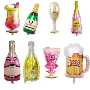 wine bottle shaped party aluminium balloons wholesale self inflating balloon