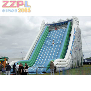 Large Commercial Inflatable Everest Ice Slide 30ft Tall Outdoor Inflatable Dry Slide For Sale