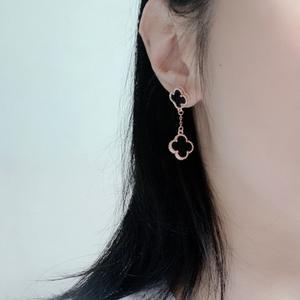 2020 Original Design Gold Plated 925 Sterling Silver Four Leaf Clover Women Earrings