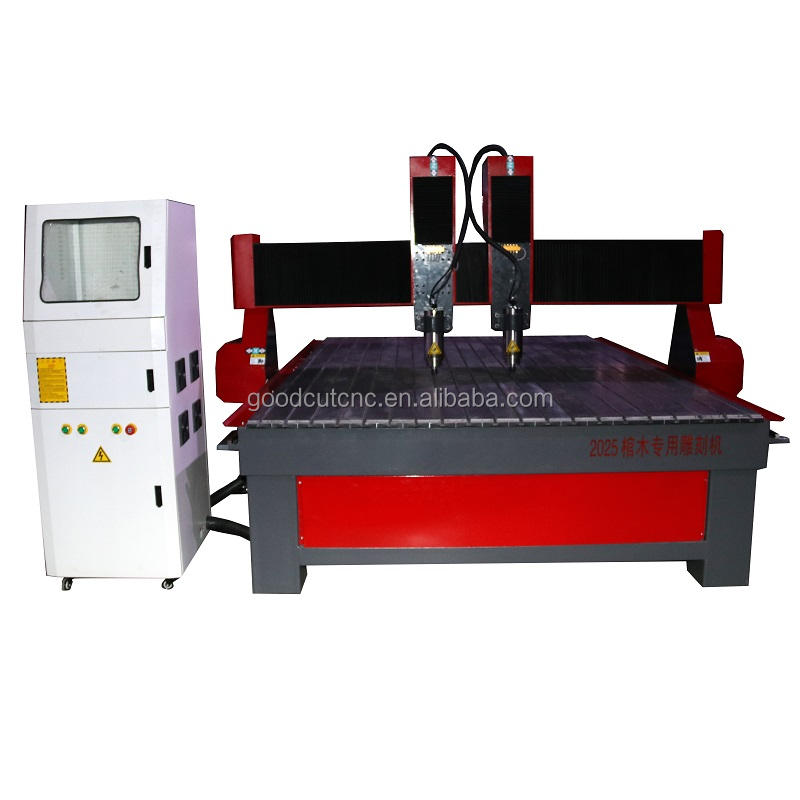 CNC router multi heads double spindle 1325 2025 2030 coffin carving machine with DSP controller