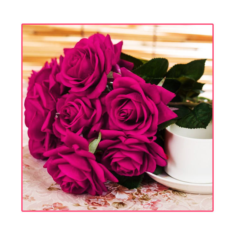 Factory direct Wholesale Different Design silk fabric Rose Artificial Flower