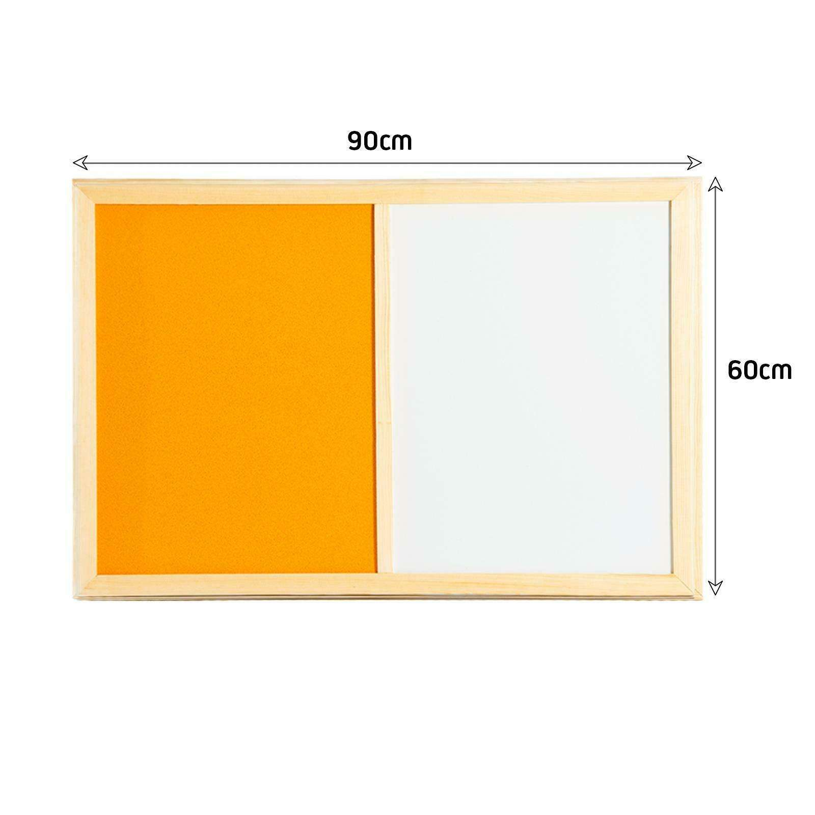 Colorful Combination Dry Erase White Bulletin Notice Felt Board With Pine Wooden Frame