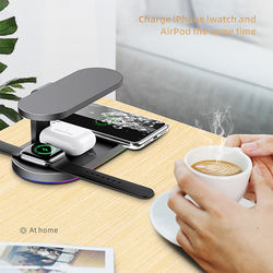 portable 3 in 1 wireless charger with uv qi wireless charger